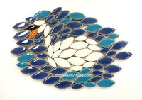 Ceramic leaves, Blue, 50 g