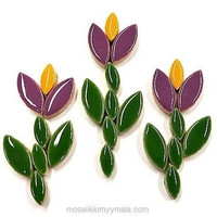 Ceramic leaves, Purple, 50 g