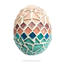 Easter egg, rosa-teal, DIY