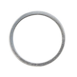 Metal jewellery ring flat, 15mm ø, t.bag 4pcs., silver