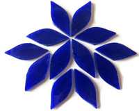 Small petals, Blue, 12 pcs