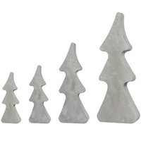 Casting mould, Fir trees, 4 pcs