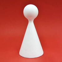 Frigolitkägla, 15 cm