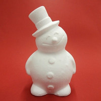 Styrofoam-snowman, height 17 cm