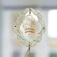 Plastic frame ornament 20 cm with disc 14 cm
