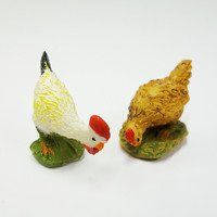 Polyresin Chickens, 4 pcs