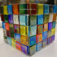 Ice Glass, transparent, Multicolour Mix 200 g