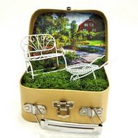 Papier-mâché Suitcase, S