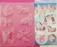 Casting mould set: unicorns