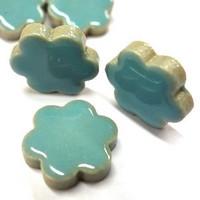 Ceramic Flowers, Turquoise, 50 g