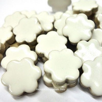 Ceramic Flowers, White, 50 g