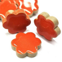 Ceramic Flowers, Red, 50 g