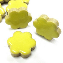 Ceramic Flowers, Yellow, 50 g