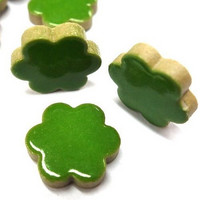 Ceramic Flowers, Green, 50 g