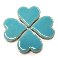 Ceramic Hearts, Turquoise, 50g