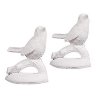 Birds, white, 2pcs