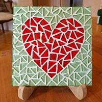 Hjärta, grytunderlägg, DIY