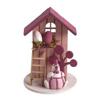 Wood Deco Summerhouse, 6cm ø pale-pink