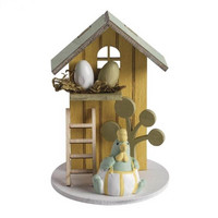 Wood Deco Summerhouse, 6cm ø honey yellow
