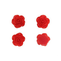 Red roses, 4 pcs
