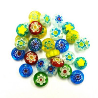 Millefiori beads, 30 pcs, Mix