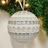 Mosaic Ball, Snow, DIY