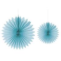 Paperirosetti, 2 kpl, halk. 20+30 cm, lagoon