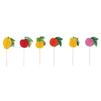 Deco Picker fruits, 12pcs, mixed