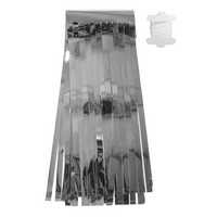 Decorative ribbon, Tassels, silver, 4m