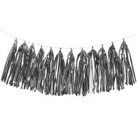 Decorative ribbon, Tassels, silver, 4 m