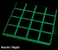 Glow-in-the-dark grout additive