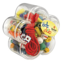 Rocailles-Mix confetti with rubber thread, box 40 g