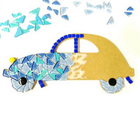 Children's kit, Blue car, DIY