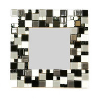 Mosaic Mirror, Black-White, DIY