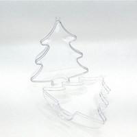 Plastic tree, 2 parts, 10 cm crystal