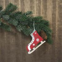 Spruce decoration, Skate, 12cm, 2 pcs