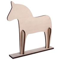 Wood.horse, Scandinavia, 22cm, DIY