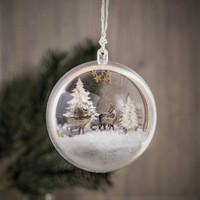 Christmas ball, Reindeers + trees, DIY
