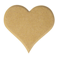 MDF hjärta, 14 cm