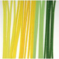 Chenille piprensare, 30 cm, 25 st, 6 mm, Green-yellow