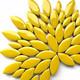 Keramiska löv, Citrus Yellow, 50 g