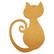 Sitting cat, 15 cm, MDF