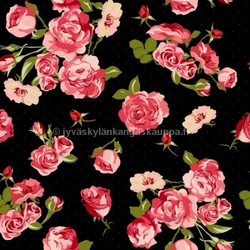 Fifties rose digiprintti trikoo per 10 cm ***