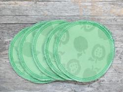 Liivinsuojat kuviobambuneulos BASIC 5 pr setti omppu lime