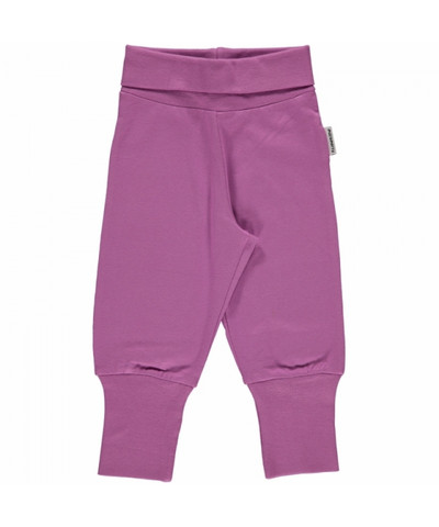 Maxomorra pants rib Light Purple 74/80