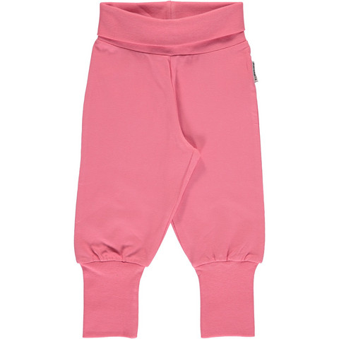 Maxomorra pants rib Rose Pink 62/68
