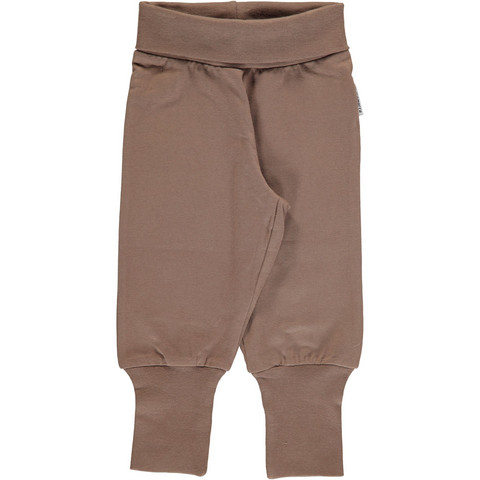 Maxomorra pants rib Hazzel brown 62/68