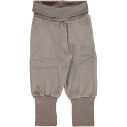 Maxomorra pants rib VELOUR Light grey melange 50/56