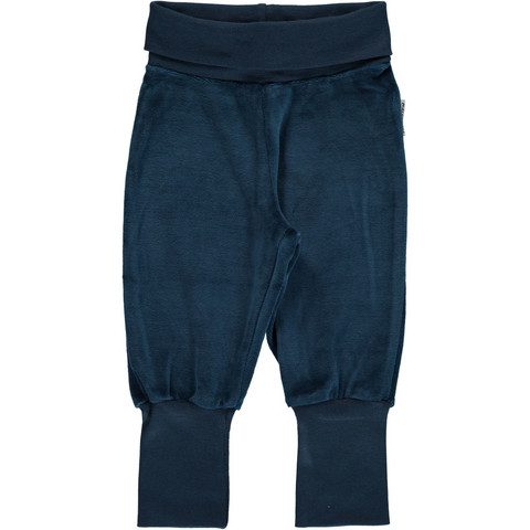 Maxomorra pants rib VELOUR Dark Blue 74/80