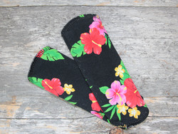 Pikkuhousunsuoja trikoo SENSITIVE tropical flower black